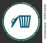 trash can icon vector. flat...