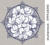 floral highly detailed hand... | Shutterstock .eps vector #599518340