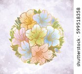 floral highly detailed hand... | Shutterstock .eps vector #599518358
