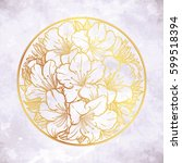 floral highly detailed hand... | Shutterstock .eps vector #599518394
