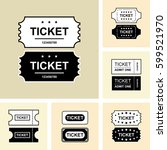 set of ticket icon isolated.... | Shutterstock .eps vector #599521970