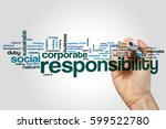 Small photo of Responsibility word cloud concept
