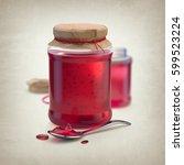 3d render of sweet berry jam in ...   Shutterstock . vector #599523224