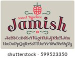elegant decorative font named ... | Shutterstock .eps vector #599523350