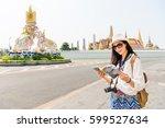 bangkok  thailand tourist with... | Shutterstock . vector #599527634