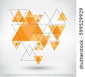 modern geometric background... | Shutterstock .eps vector #599529929