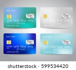 realistic detailed credit cards ... | Shutterstock .eps vector #599534420