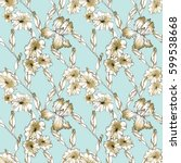floral seamless pattern... | Shutterstock . vector #599538668