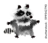 raccoon made with abstract... | Shutterstock . vector #599542790