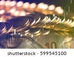 finance background with money... | Shutterstock . vector #599545100