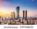 modern city skyline traffic and ... | Shutterstock . vector #599548034