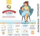 feeding schedule for baby's 1... | Shutterstock .eps vector #599549099