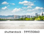 empty street in modern city | Shutterstock . vector #599550860
