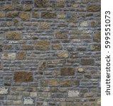 ancient old dark regular stone...   Shutterstock . vector #599551073
