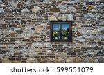 ancient old dark regular stone...   Shutterstock . vector #599551079