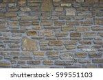 ancient old dark regular stone...   Shutterstock . vector #599551103
