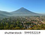 antigua guatemala volcano | Shutterstock . vector #599552219