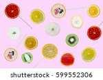 multicolored pattern of cut... | Shutterstock . vector #599552306