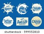 vector milk product logo. milk  ...   Shutterstock .eps vector #599552810