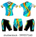 abstract colors on sport t... | Shutterstock .eps vector #599557160