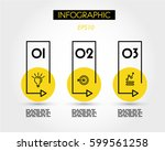 infographic steps with yellow... | Shutterstock .eps vector #599561258