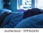 an elderly man suffers from... | Shutterstock . vector #599562650