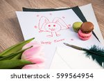 happy easter card background... | Shutterstock . vector #599564954