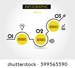yellow increase template with... | Shutterstock .eps vector #599565590