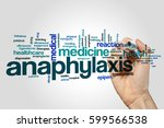 anaphylaxis word cloud concept | Shutterstock . vector #599566538