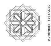islamic pattern. vector... | Shutterstock .eps vector #599573780