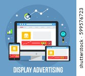 display advertising through... | Shutterstock .eps vector #599576723