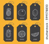 set of tags or label templates... | Shutterstock .eps vector #599578850