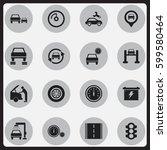 set of 16 editable vehicle...