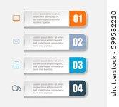 modern paper infographics... | Shutterstock .eps vector #599582210