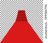 long red carpet go to podium...   Shutterstock .eps vector #599584790