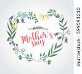 happy mother day background ... | Shutterstock .eps vector #599591210