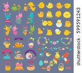 easter vector design elements...   Shutterstock .eps vector #599591243