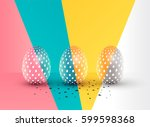 easter eggs abstract ... | Shutterstock .eps vector #599598368