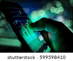a businessman checking stock...   Shutterstock . vector #599598410