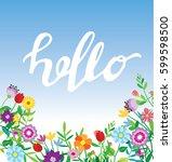 spring template. spring... | Shutterstock .eps vector #599598500