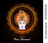 Happy Shri Ram Navami  Vector...