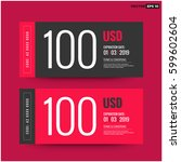 hundred dollars gift card with... | Shutterstock .eps vector #599602604