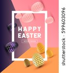 an abstract easter design with... | Shutterstock .eps vector #599603096