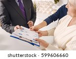 professional real estate agent... | Shutterstock . vector #599606660