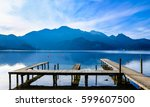 famous tegernsee lake in bavaria - germany - stock photo
