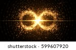 infinity symbol background.... | Shutterstock .eps vector #599607920