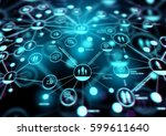 increasing connections. a... | Shutterstock . vector #599611640
