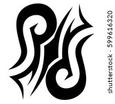 tattoo tribal vector designs... | Shutterstock .eps vector #599616320