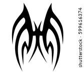 vector tribal tattoo designs.... | Shutterstock .eps vector #599616374