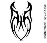 vector tribal tattoo designs.... | Shutterstock .eps vector #599616458